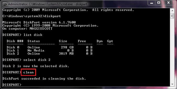 Format fat32 windows 7 cmd
