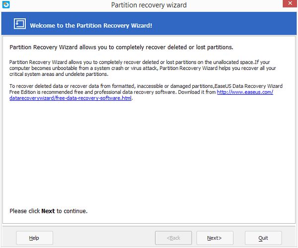 Recover deleted or lost flash drive partition