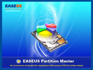 Loading EASEUS Partition Master