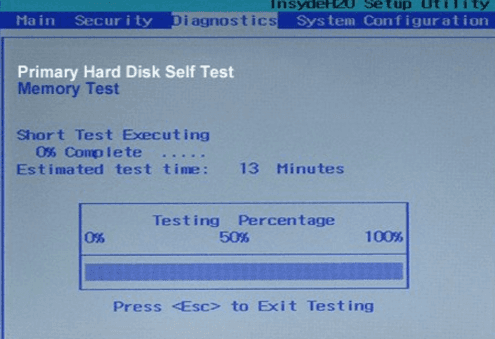 test hard disk to fix system not found error
