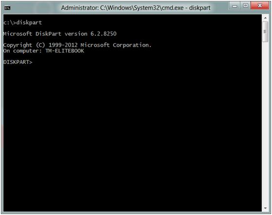 Launch PowerShell Prompt to install Windows 10 on external hard drive
